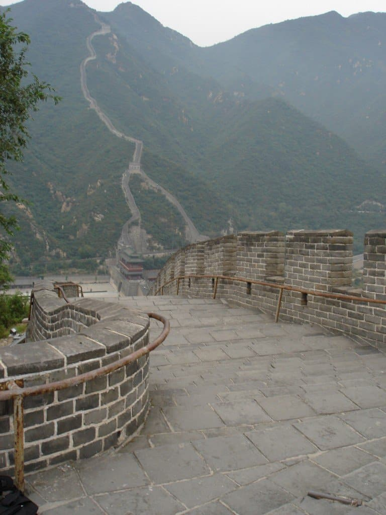 The Great Wall - our guide took us to a more 'remote' spot. Lucky us.