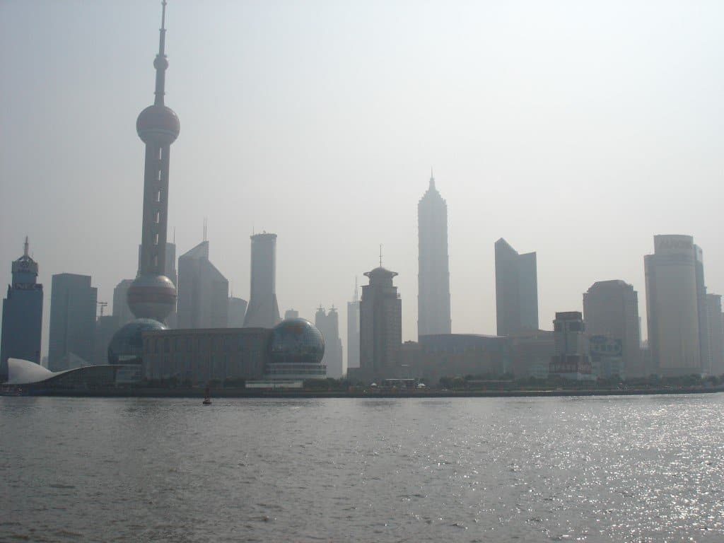 Shanghai skyline and the River Bund