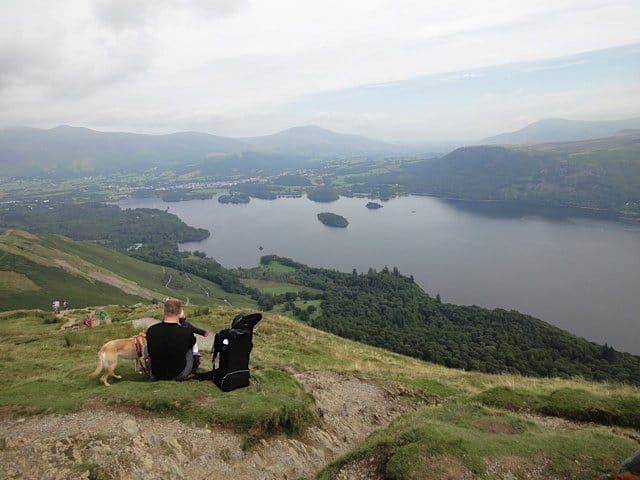23Mr TB and the gang enjoying a view of Derwentwater