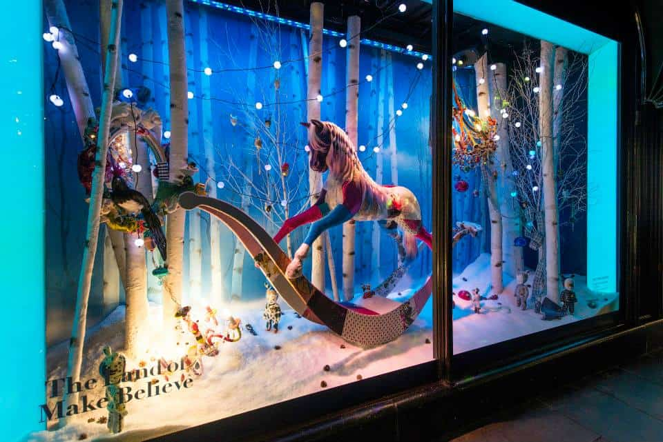 Visiting Santa's Grotto at Harrods in London