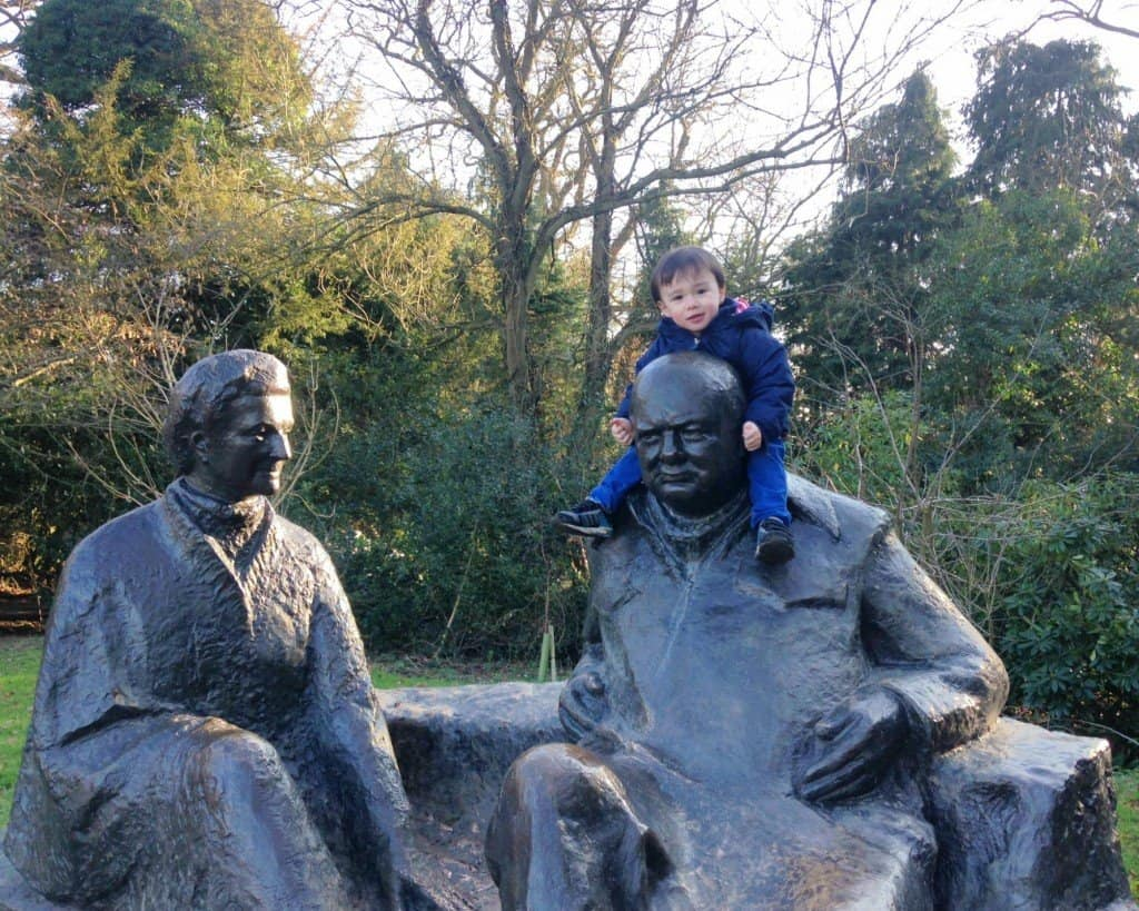 Winston Churchill sculpture at National Trust's Chartwell House in Kent My Travel Monkey