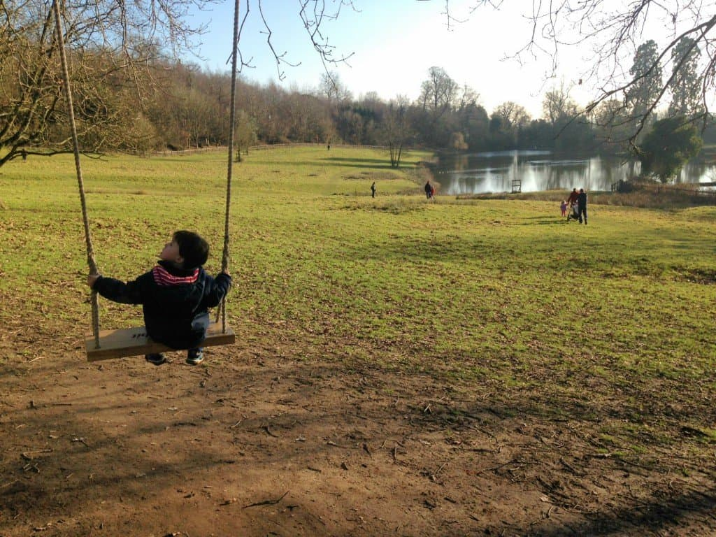The swings at National Trust's Chartwell House in Kent My Travel Monkey