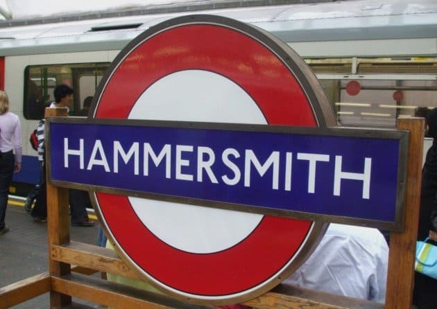 Hammersmith Tube Station in London