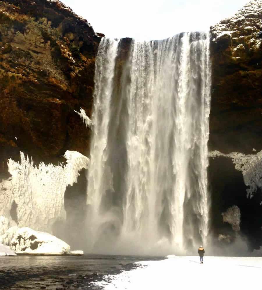 Walking At Skógafoss Waterfall | My Travel Monkey