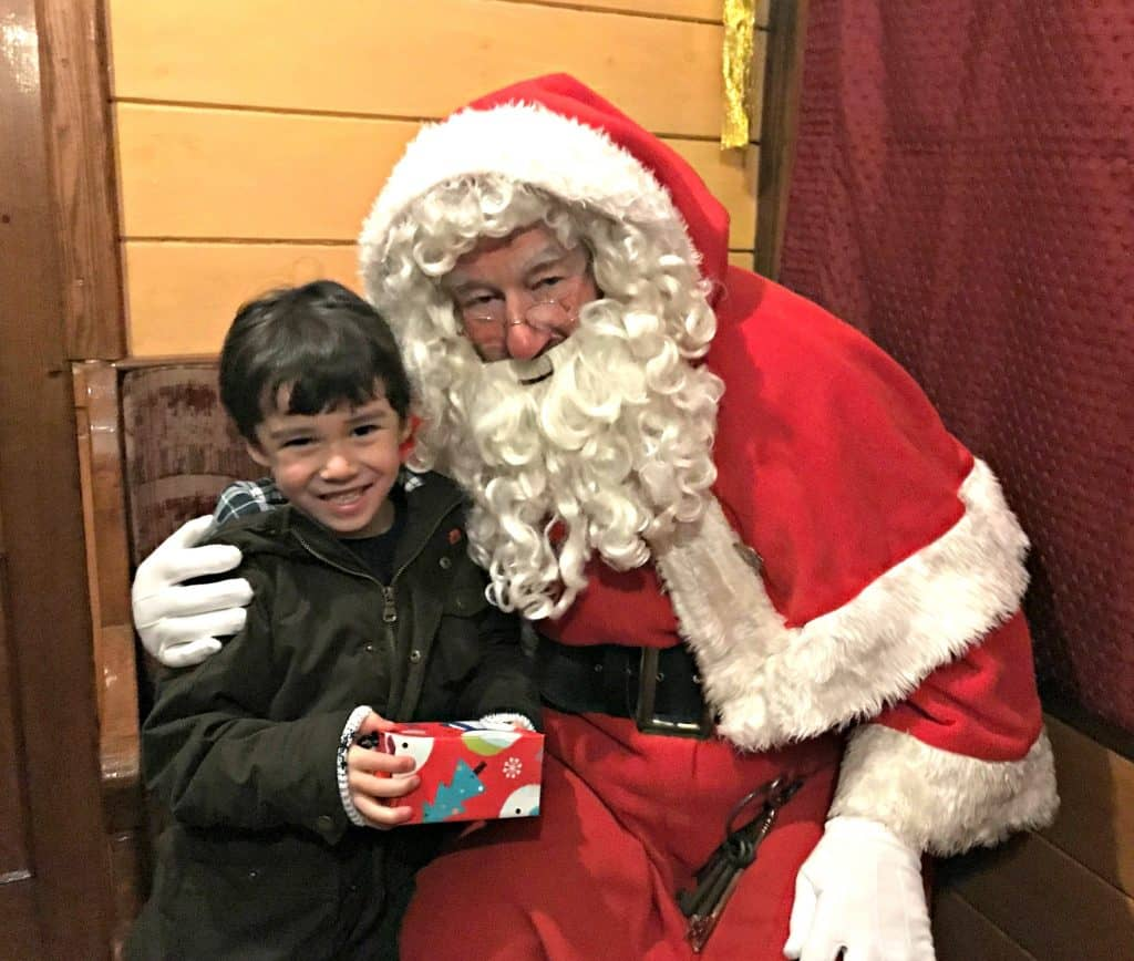 Riding Thomas The Tank Engine and Meeting Santa Claus at Didcot Railway Centre