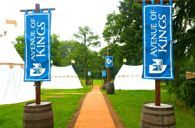 Overnight Glamping at The Knight's Village in Warwick Castle