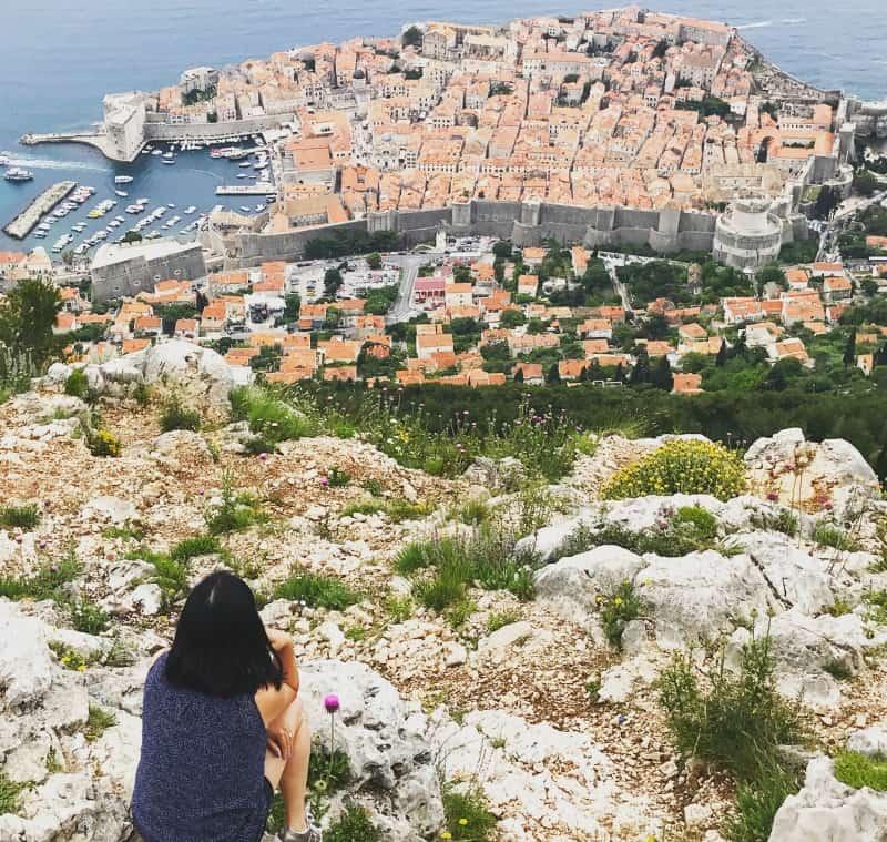 Enjoying the view from Mount Srd | My Travel Monkey